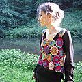 2810 : Débardeur en fleurs japonaises