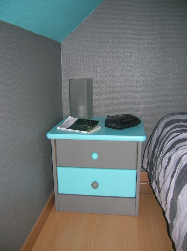 chambre bleu turquoise et gris. Black Bedroom Furniture Sets. Home Design Ideas