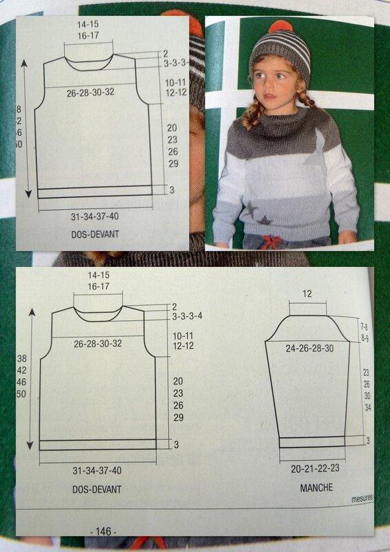 pull enfant ras du cou taille 4 ans à 10 ans