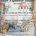 Cours d'aquarelle 2014-2015