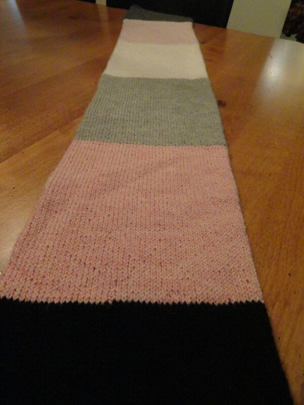 Blocks of color scarf