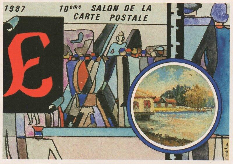 1987 10ème Salon CP Puzzle C Odile 2 R