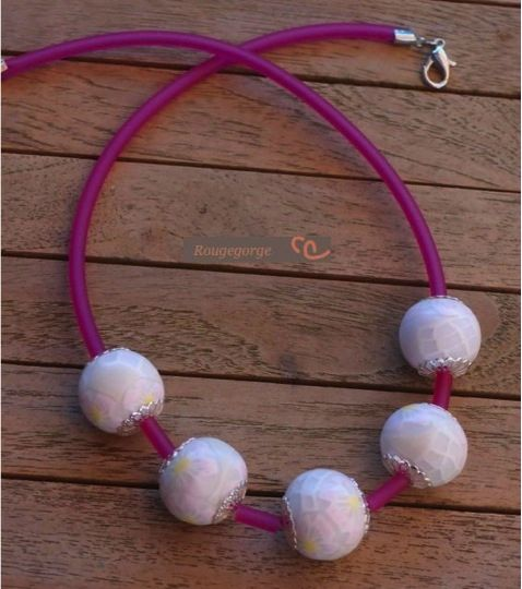fimo collier mariage 2
