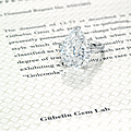 A rare 13.77 carats type iia diamond ring, by cartier