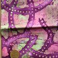 batik violet ligne