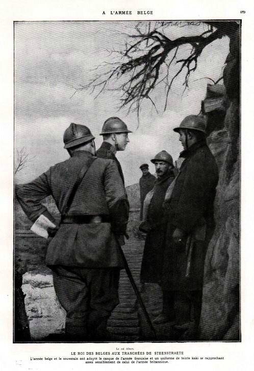 L'armée belge roi Albert