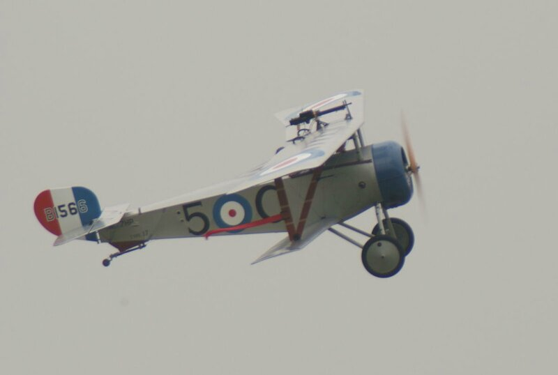 Nieuport_17_FlyBy_02_ThruDirtyWindow_Dawn_Patrol_NMUSAF_26Sept09_(14596612681)
