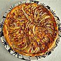 Tarte aux poires - roquefort - huile de noix