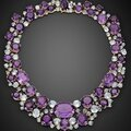 Amethyst and aquamarine necklace by verdura