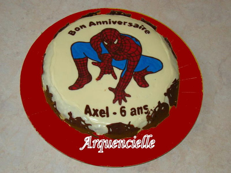 gateau d anniversaire spiderman d coration theme anniversaire. Black Bedroom Furniture Sets. Home Design Ideas