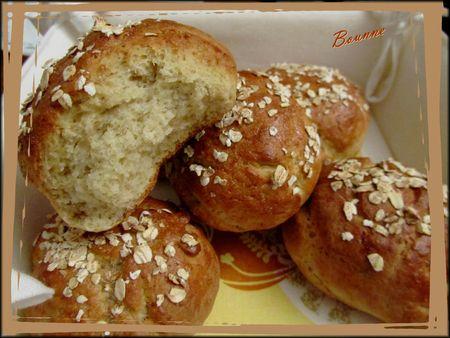 pains aux flocons d'avoine