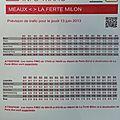 013 Info trafic Ligne P Meaux-La Ferté Milon prévisions pour le130613 - 01
