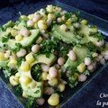 Salade haricot-maïs-avocat