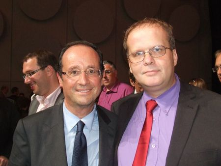 Fabien et Franois Hollande le 14 sep 2011