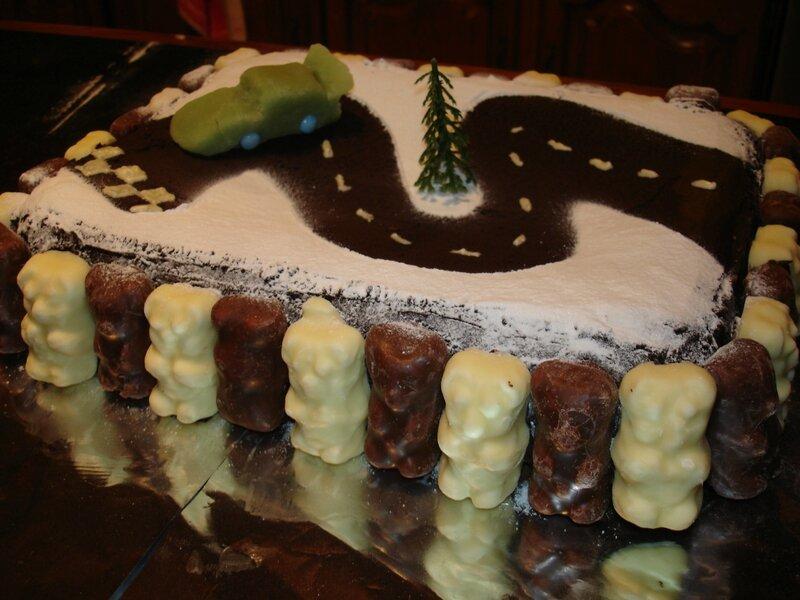 Bekannt Recette du Gâteau d'anniversaire Circuit Voiture - Les  KT83