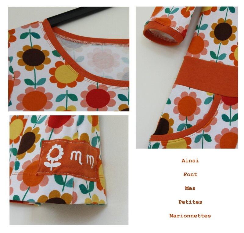 robe fleurs oranges 2
