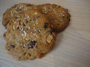 cookies aux cacahuètes et fleur de sel 1