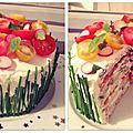 Gâteau sandwich salé