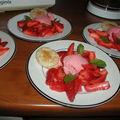 Parfait aux fraises et sa salade de fraises poivrées