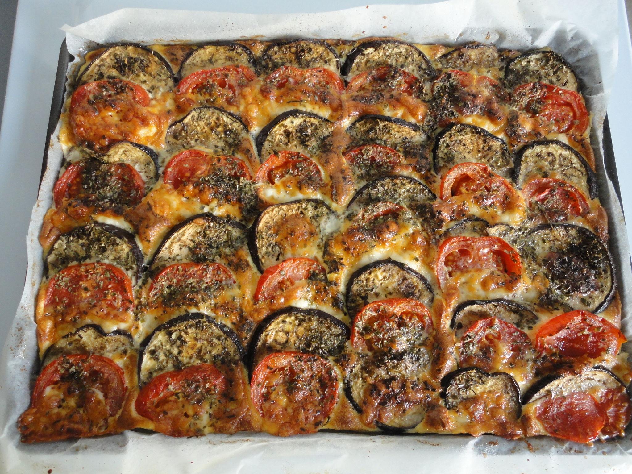 Tian d'aubergines et tomates à la mozarella