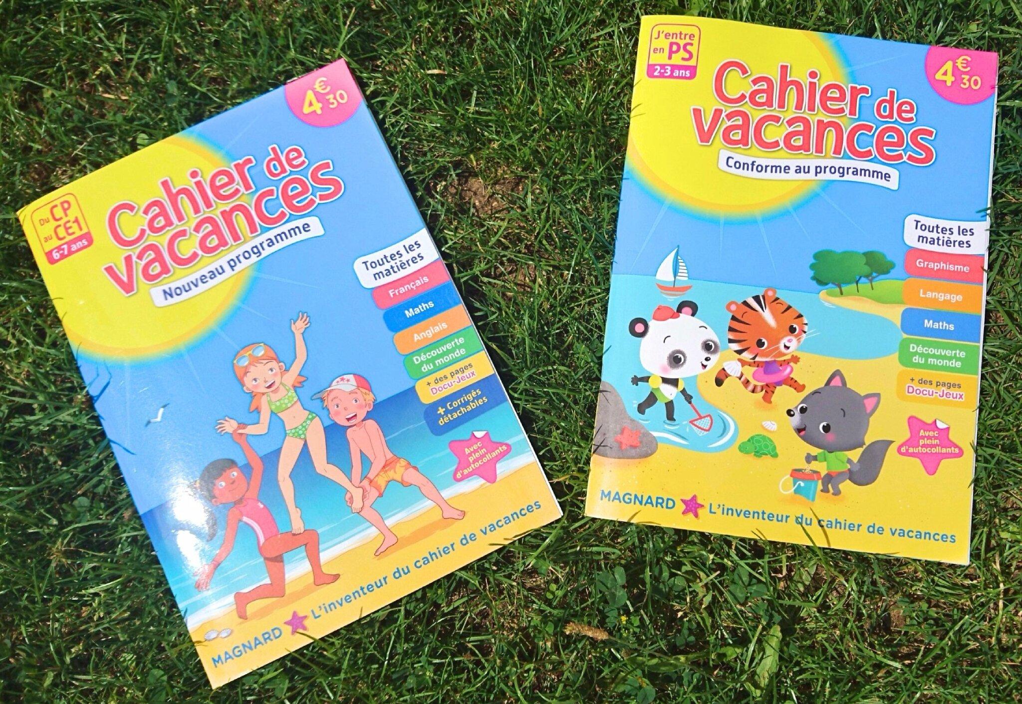 Un cahier de vacances pour l'été 2017?