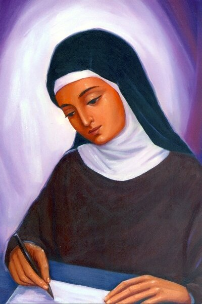 painting-of-st-clare-by-sr-maria-van-galen-fmm
