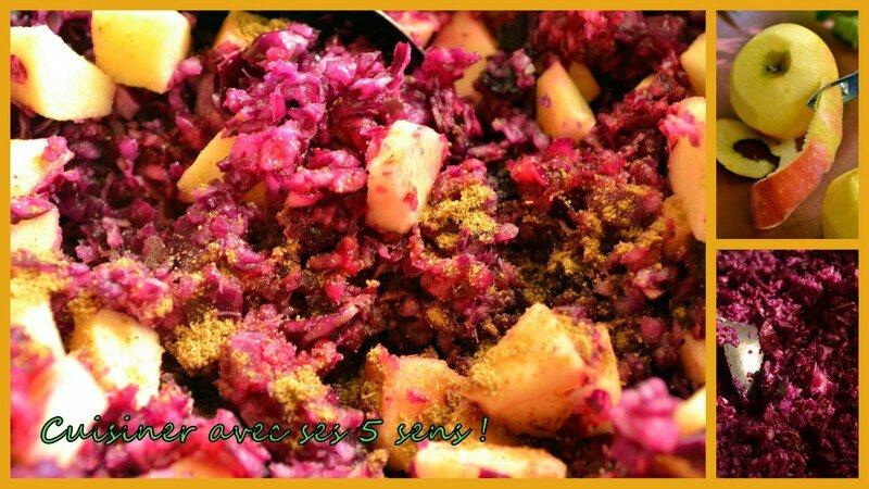 Salade de chou rouge marin aux agrumes cuisiner avec - Cuisiner un chou rouge ...