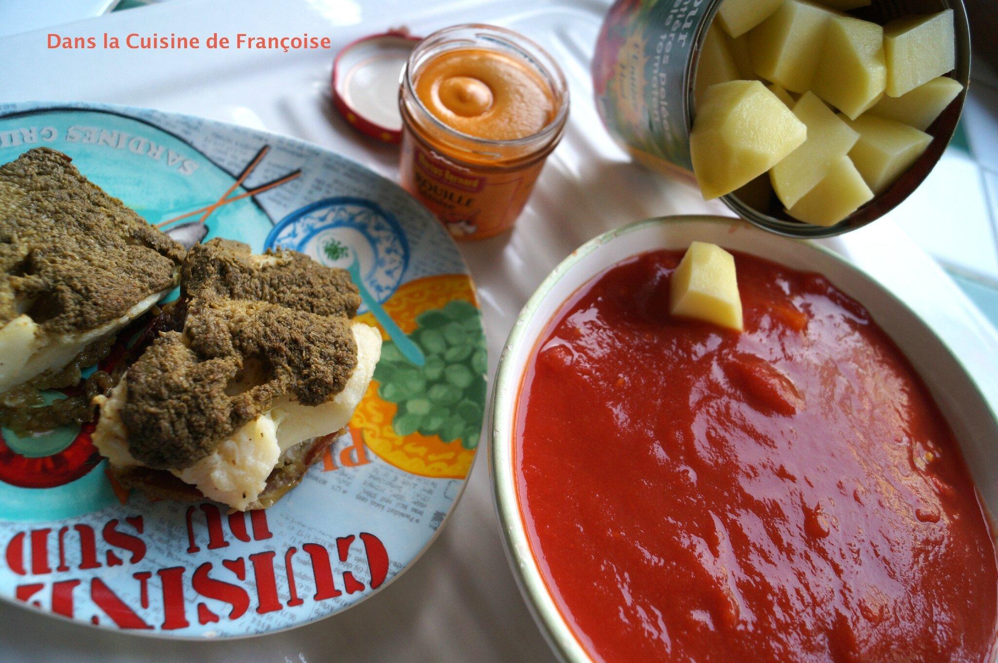 Soupe de poisson avec un reste de cabillaud dans la for Reste de cuisine