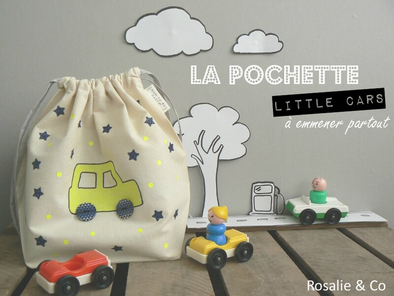 Pochette voiture- Rosalie and co
