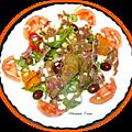Salade d'artichauts et poivrons grillés