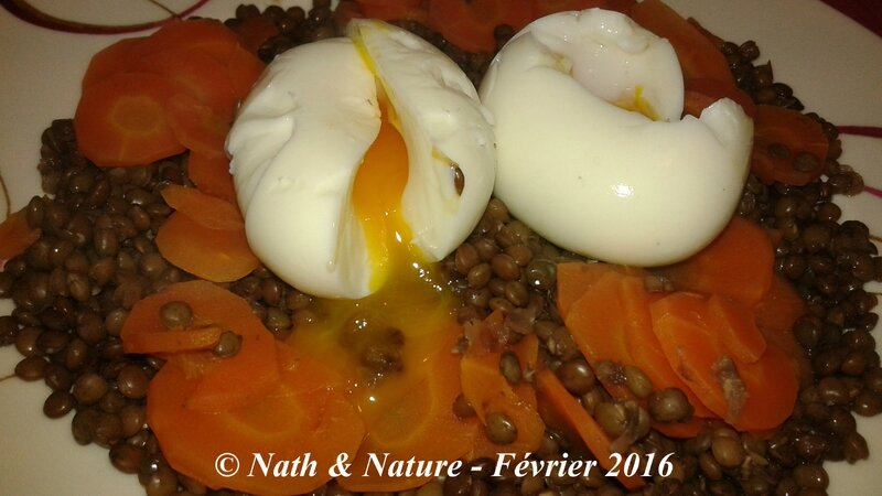 Oeuf mollet sur lit de lentilles et carottes - 3