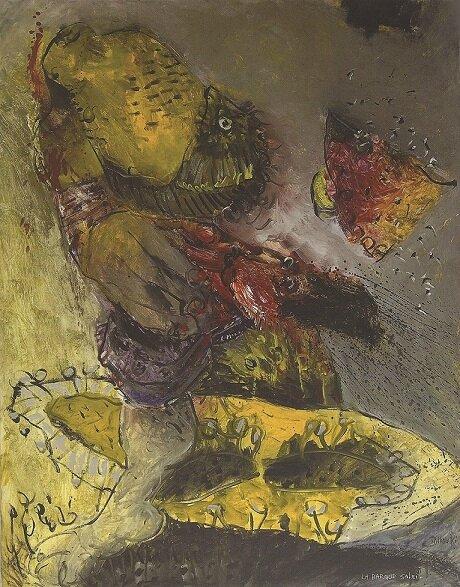 La barque soleil, 1987 - 92x73cm