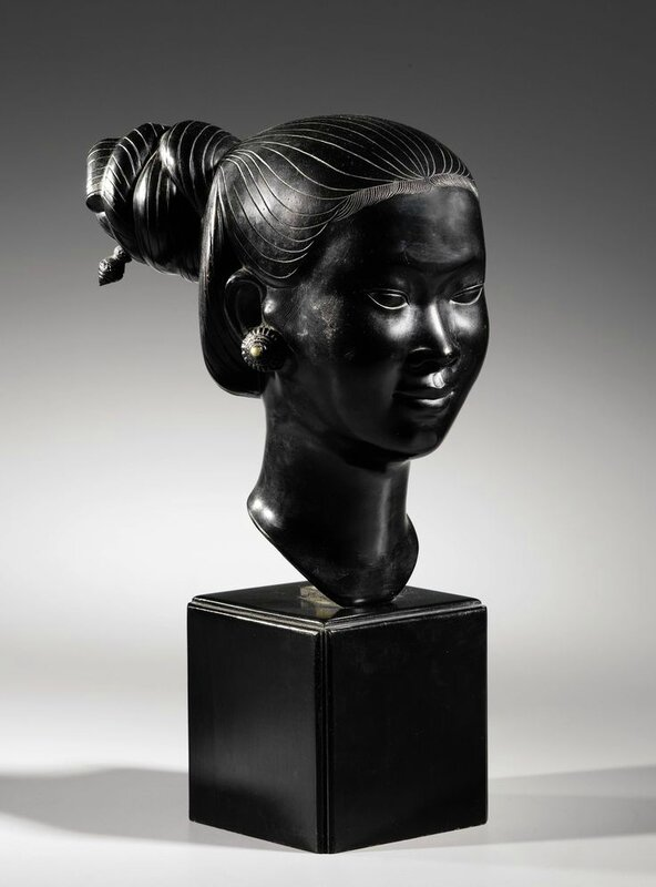 Applied Arts School of Biên Hoà and Thành Lễ Studio (20th Century), Bust of a young Indochinese woman