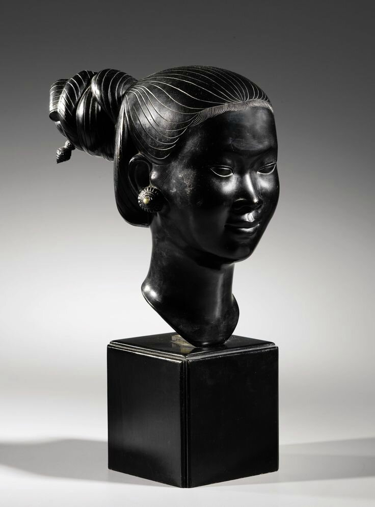 Applied Arts School of Biên Hoà and Thành Lễ Studio (20th Century), Bust of a young Indochinese woman, circa 1950