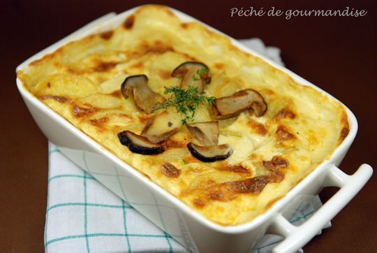gratin dauphinois aux c pes d 39 apr s ric fr chon p ch de gourmandise. Black Bedroom Furniture Sets. Home Design Ideas