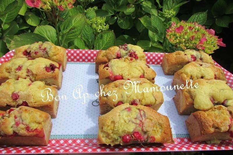 petits gâteaux aux 2 framboises et groseilles du jardin crémés 014