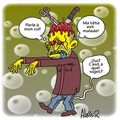 Zombie with sick head... (ine ingliche in the texte)