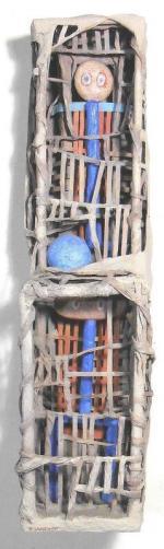 LANCHON Le ballon bleu 2011 de face 58 x 14,5 x 19 et 11