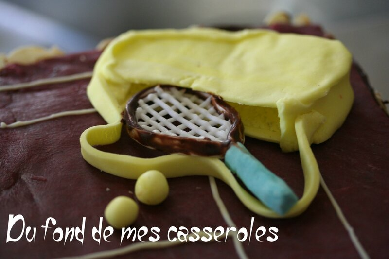 Sac tennis gateau