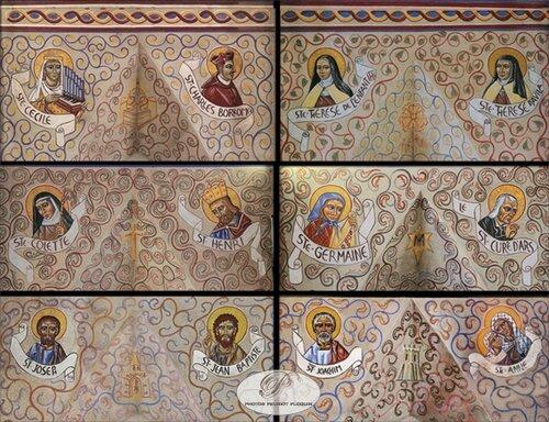 ALBAN_eglise_Notre_Dame_fresque_de_Nicolas_Greschny_portraits_de_saints