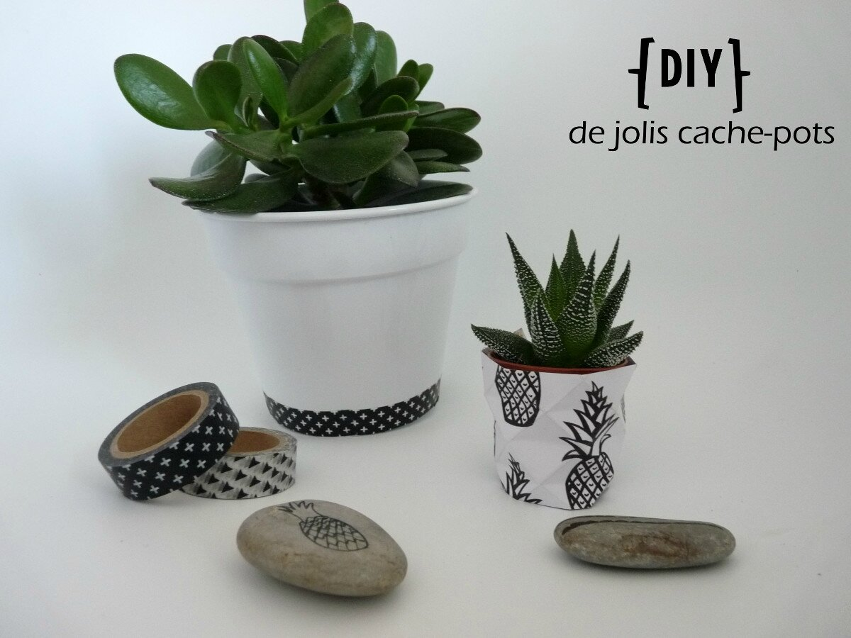 diy de jolis cache pots pitimana le blog. Black Bedroom Furniture Sets. Home Design Ideas