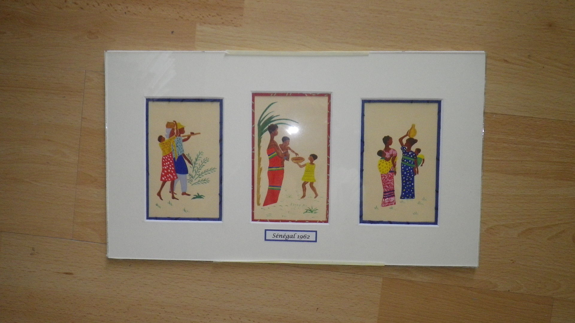3 petites peintures na ves du s n gal 4 39 ine for Peinture chambre style africain