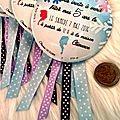 Invitation reine des neiges (badges en 88 mm)