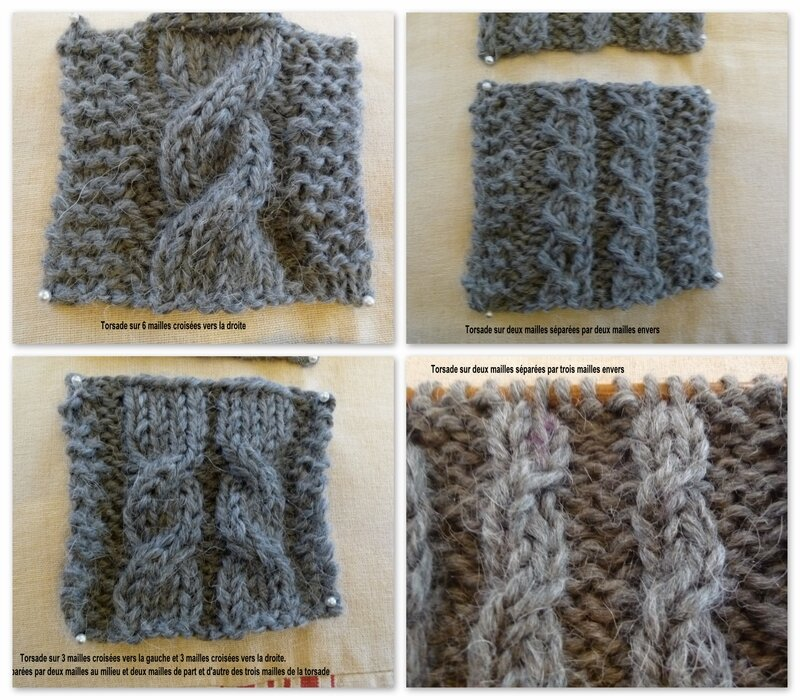 POINT TRICOT TORSADE