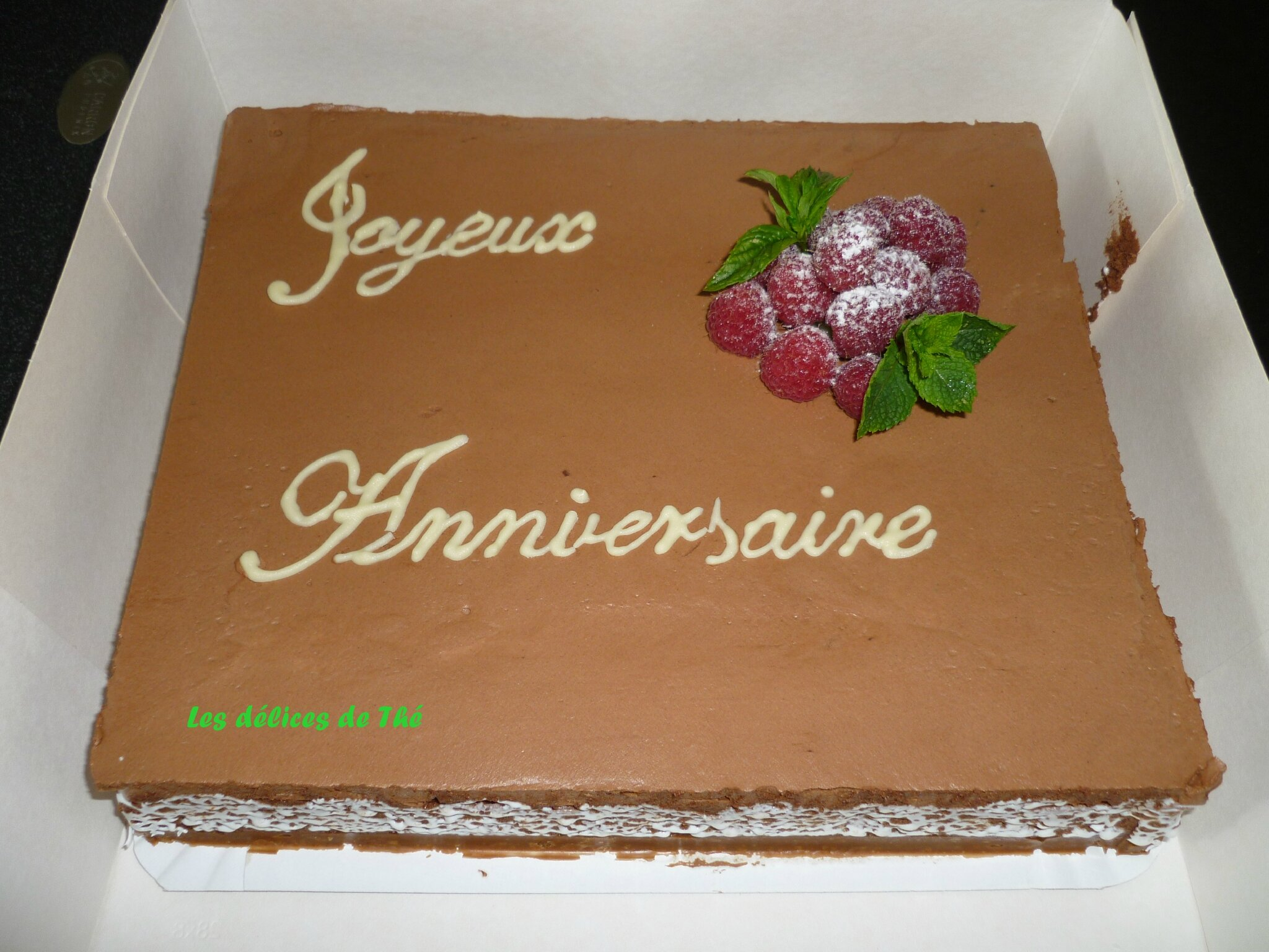 G teau d 39 anniversaire les d lices de th - Gateau anniversaire adulte photo ...