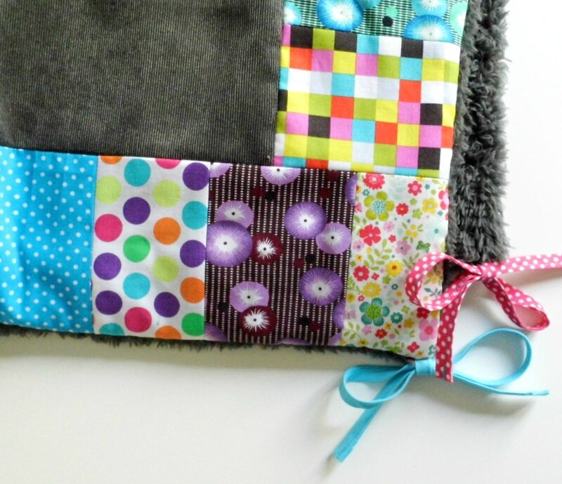 Couverture patch multicolores fille