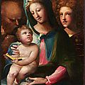 Domenico beccafumi, holy family, 1540–1549