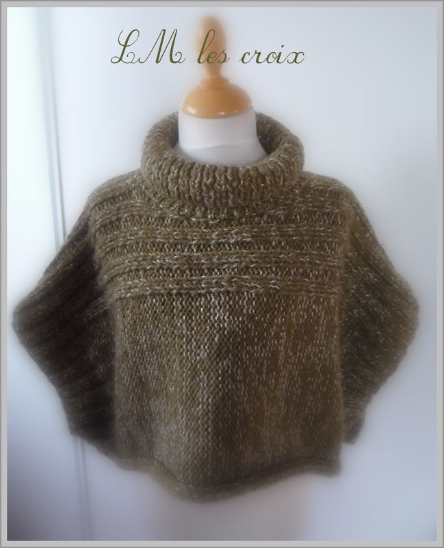 Modele Tricot Poncho Fille