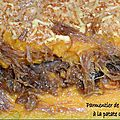 Parmentier de canard confit à la patate douce