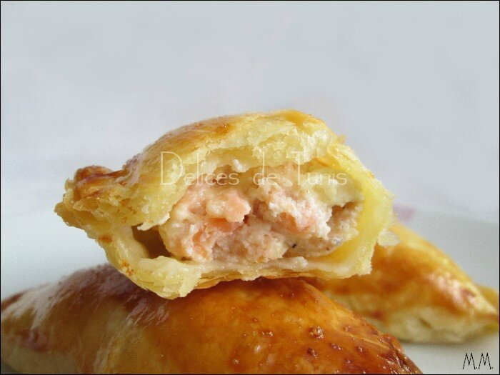 Feuilletés saumon - artichauts - 2